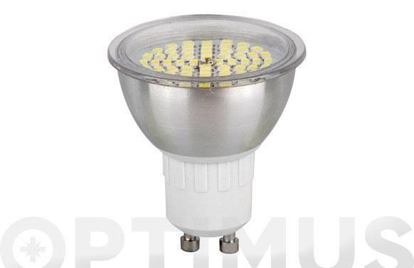Bombilla led dicroica smd alum 3,5w-120 gu-10 luz calida (3500k)