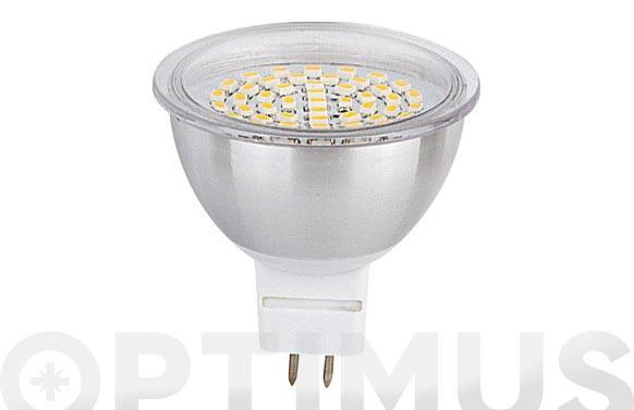 Bombilla led dicroica smd alum 3,5w-120 mr-16 luz blanca (6000k)