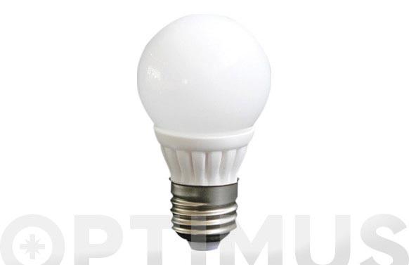 Lampara esferica ceramica smd 3w e-14 220lm luz calida (3500k)