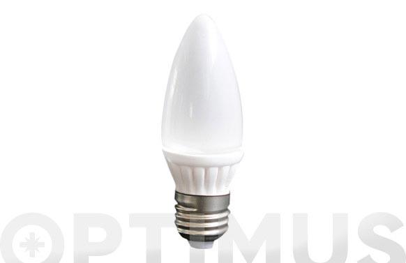 Lampara led vela ceramica smd 3w e-14 220lm luz calida (3500k)
