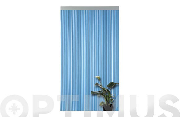 Cortina puerta cinta azul 90 x 210 cm