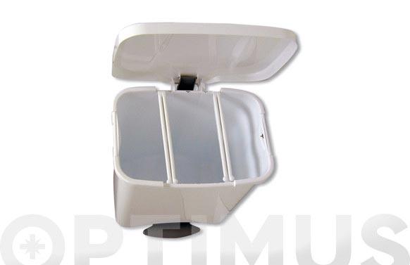 Cubo con pedal ecologico metalico 50 l