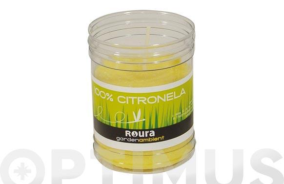Vela citronela vaso transparente pvc 90 x ø 62 mm