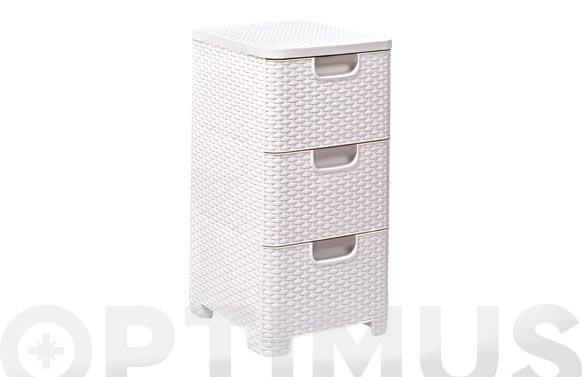 Organizador natural style 3 cajones blanco