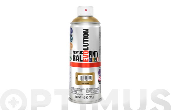 Pintura spray acrilica brillo 520 cc ev151 oro