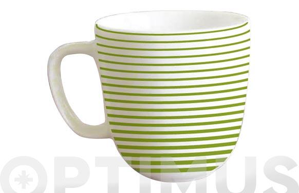 Tazas cafe porcelana jgo 6u 12625-verde