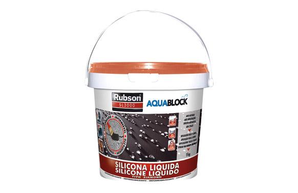 Silicona liquida aquablock sl3000 teja 1 kg