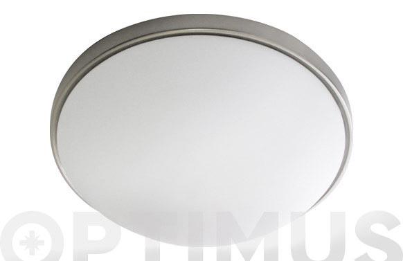 Plafon redondo con sensor plata