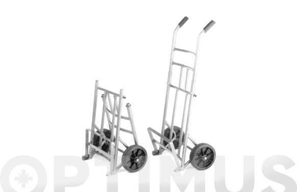 Carretilla transporte ligero plegable pl-2 100 kg pala abatible