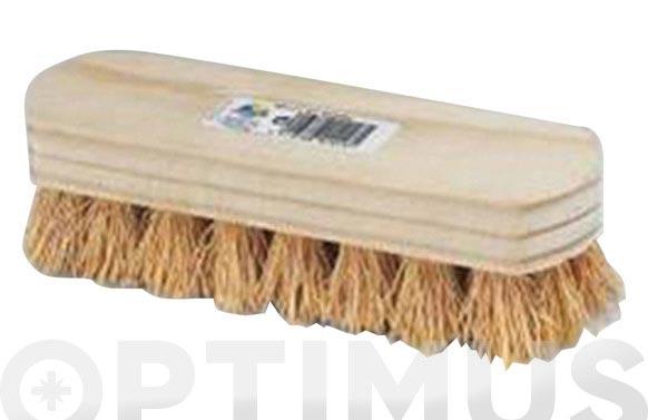 Cepillo manual zacaton fibra vegetal 4x8