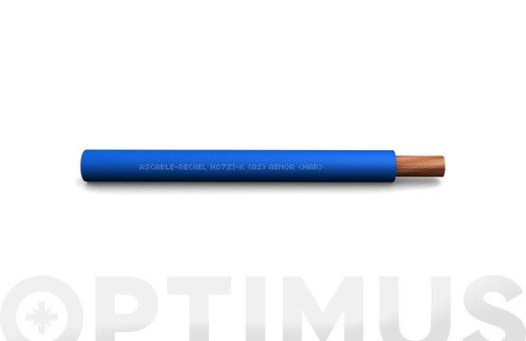 Cable conexion h07z1-k (as) cpr 1,5 mm2 azul