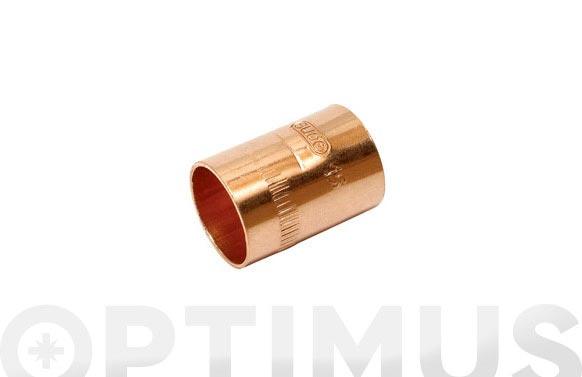 Manguito cobre h-h ø18mm 1ud
