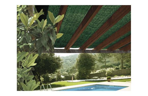 Malla sombreadora pe/rf 70% 2 x 5 m verde claro