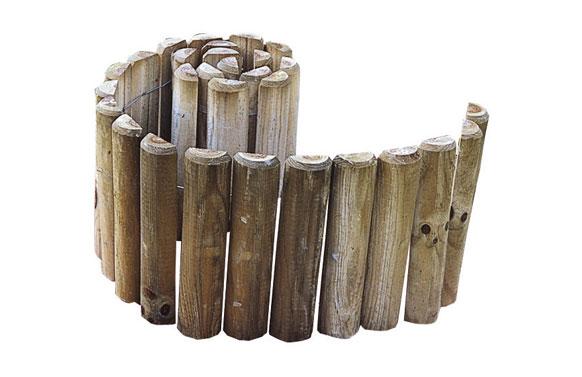 Bordura madera siloux ø5 x 30 x 180cm espesor 25 mm