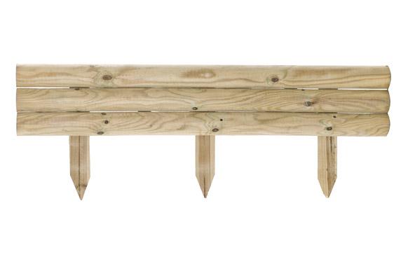 Bordura minivalla madera traverse 21 x 110 cm poste de fijacion 40 cm