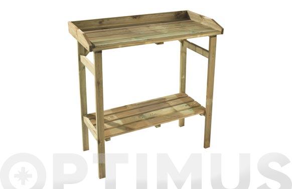 Mesa de trabajo madera jardin flora 80 x 40 x h85