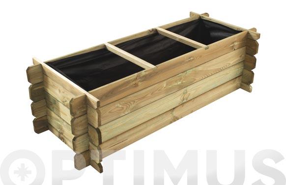 Huerto urbano madera pothos 120/140 x 40/60 x h 40 cm