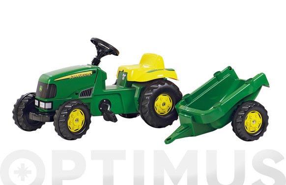 Tractor infantil con remolque