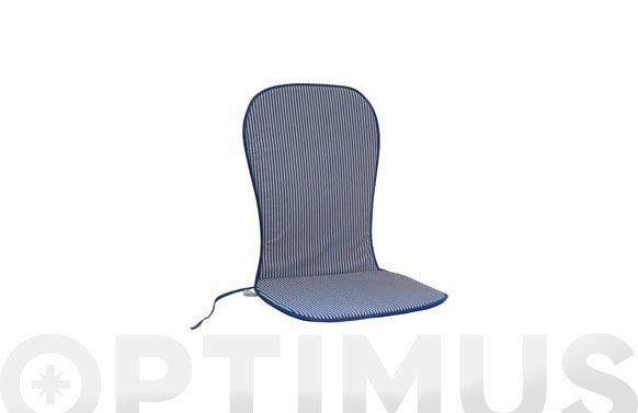 Cojin mon.alto alg/pol.(set 2u) rayas azul/blanco