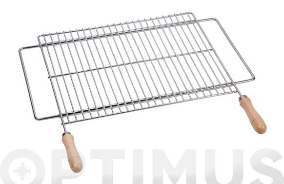 Parrilla barbacoa extensible zinc 60/70 x 40 cm