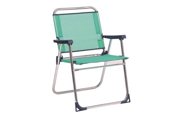 Sillon fijo aluminio playa fibreline azul