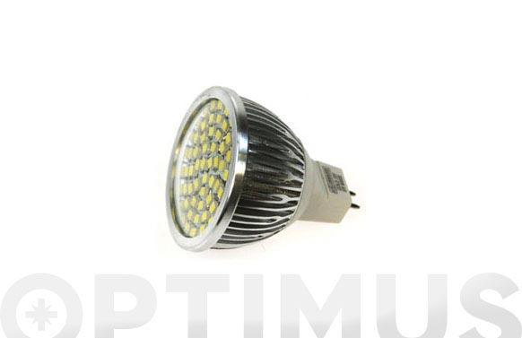 Bombilla led dicroica 60smd 5w mr16-luz calida (3300k)