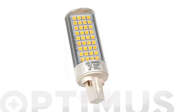 Lampara led plc-g24 8w luz calida (3300k)