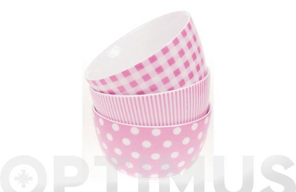 Bol desayuno ambit rayas rosas