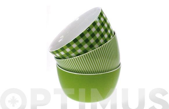 Bol desayuno ambit cuadros verde