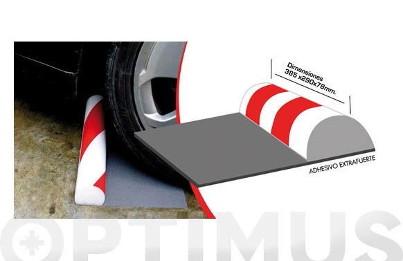 Protector parking media luna para suelo 385 x 290 x 78 mm