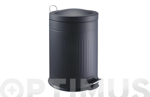 Cubo metal step negro 20 l