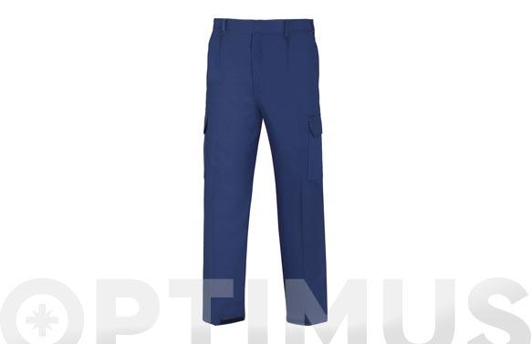 Pantalon algodon ignifugo antiestatico l3000 t 56 azul marino 266 grs