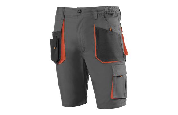 Pantalon corto algodon poliester top range t l gris / negro / naranja