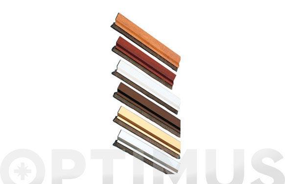 Burlete bajo puerta aluminio/cepillo adhesivo mod. 2/100 cm sapelli