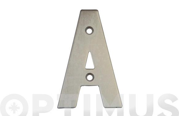 Placa 4 inox 18/8 amig (bl) letra d