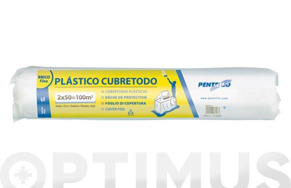Plastico polietileno bobina 2 m x 50 m fino