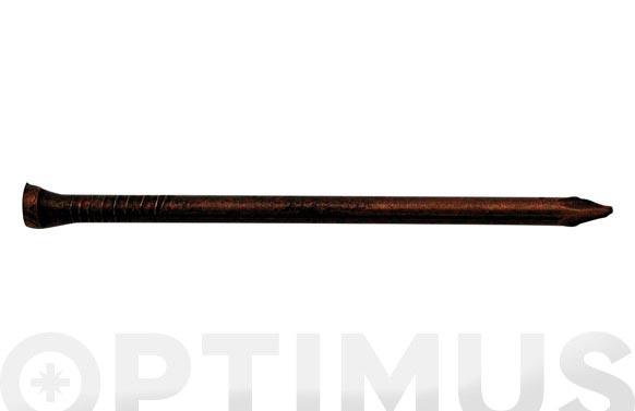 Punta acero cabeza conica cobreado (400 uni) 2x25 mm