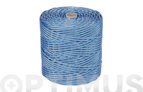 Cordon polipropileno alma texturada ø 4 mm 200 mt azul/blanco