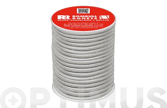 Cuerda elastica poliester/latex ø 6 mm 25 mt blanco