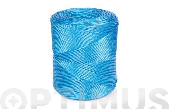 Hilo rafia polipropileno 1 cabo 400 m/kg ø 2,3 mm 700 grs azul