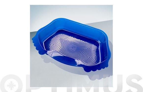 Lavapies para piscina azul