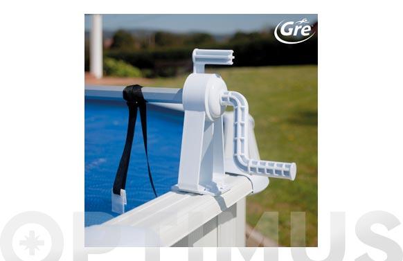 Enrollador cubiertas piscinas elevadas