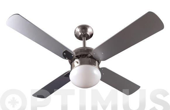 Ventilador techo ø105cm cromado c/luz