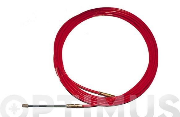 Pasa-hilos acero/nilon 4 mm 25 m rojo