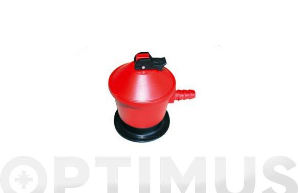 Regulador gas para bombona butano/propano 50 mbar