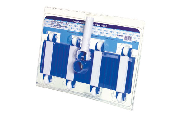Limpiafondos piscina flexible fijacion clip