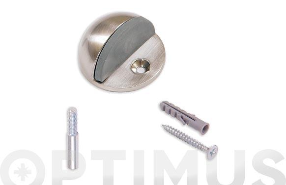 Tope de puerta con pivote y tornillo ovalado inox satinado