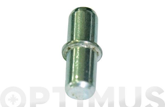 Portaestante metalico niquelado (12 pz) 5 mm