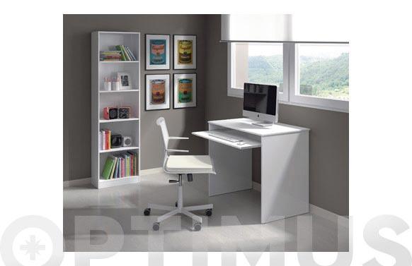 Mesa ordenador infantil blanco 79x90x54 cm