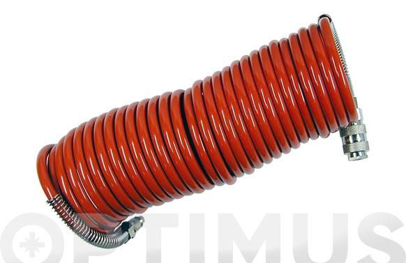 Manguera espiral nylon 6 x 8 7,5 m